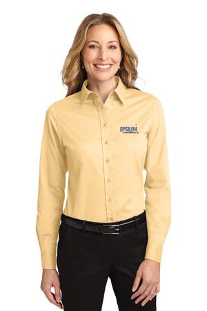 Epsilon Port Authority Ladies Long Sleeve Easy Care Shirt