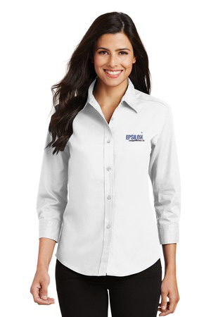 Epsilon Port Authority Ladies 3/4-Sleeve Easy Care Shirt