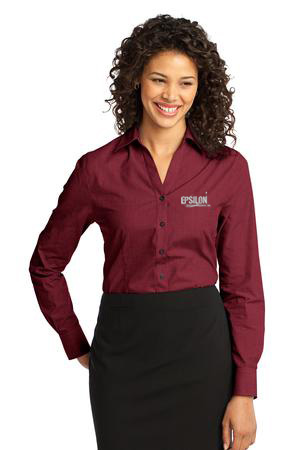 Epsilon Port Authority Ladies Crosshatch Easy Care Shirt