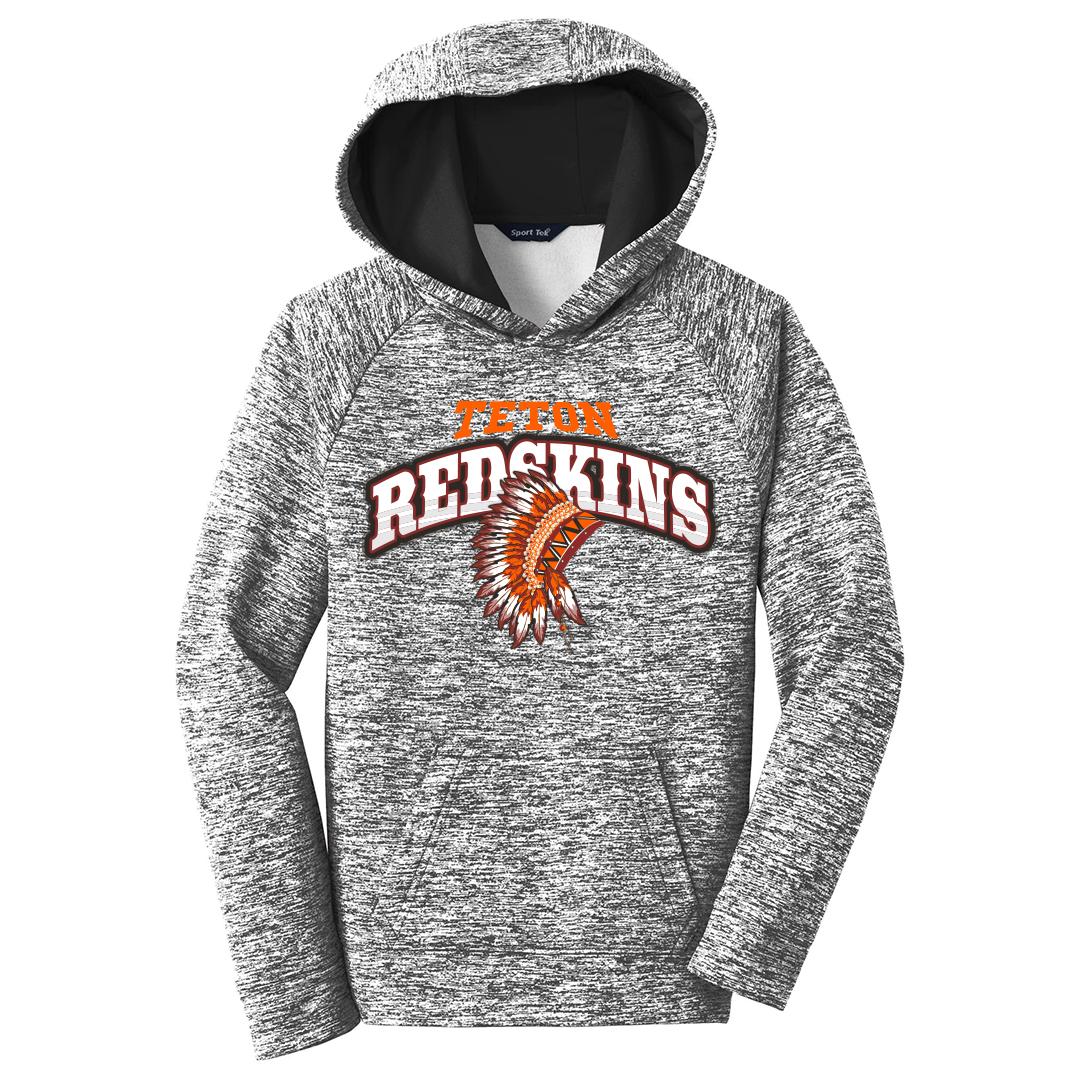 4685906e67d Teton Redskins Football – YST225 Sport-Tek PosiCharge Electric Heather  Fleece Youth Hoody
