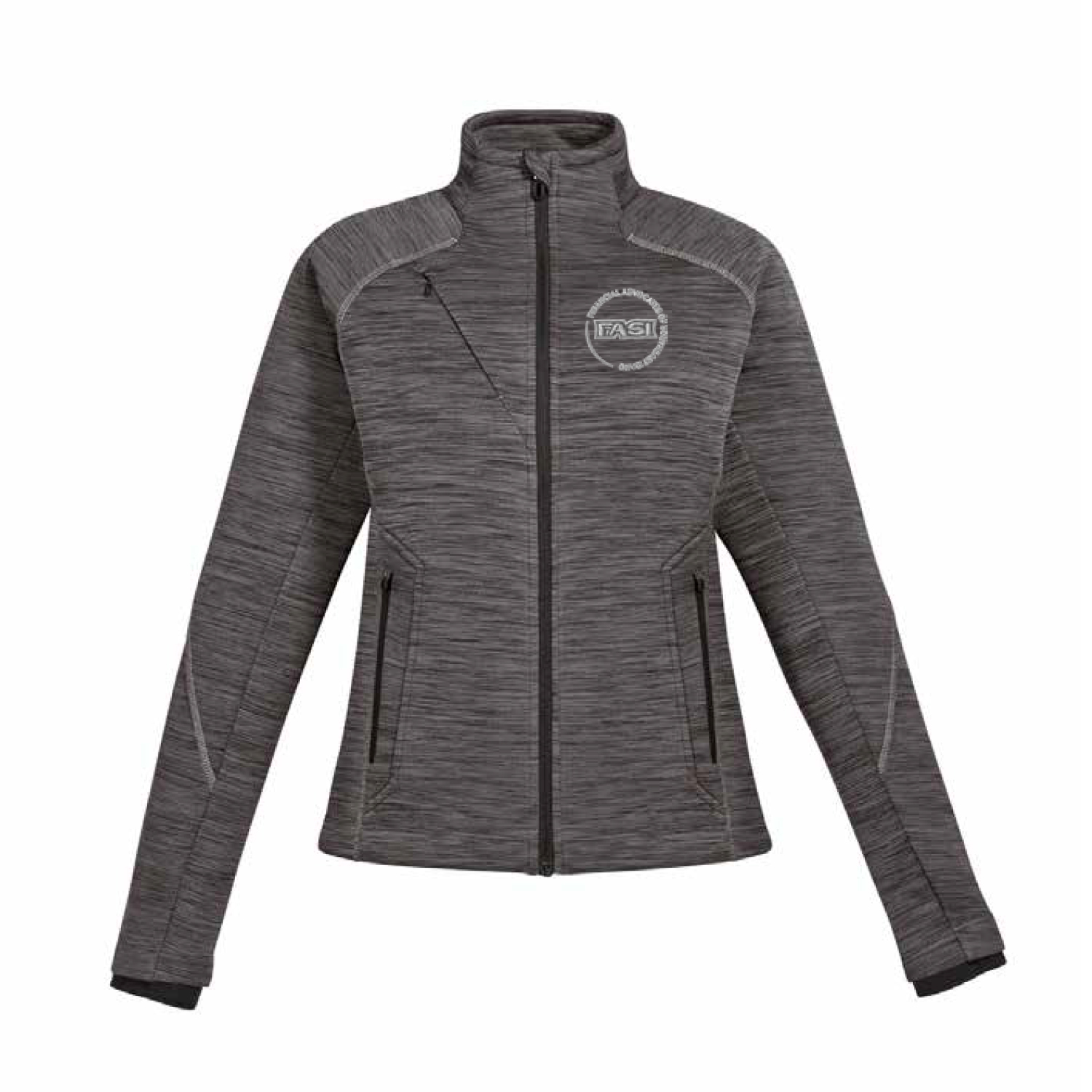 78697 North End Ladies Flux Melange Bonded Fleece Jacket